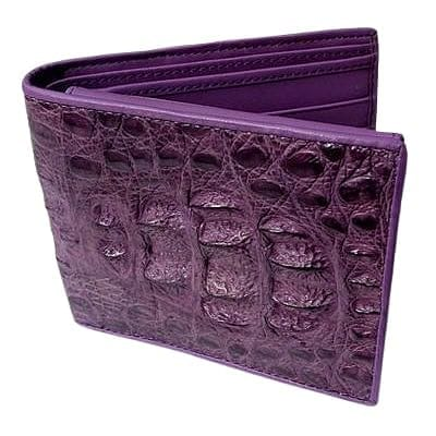 Violet Hornback Crocodile Mens Wallet