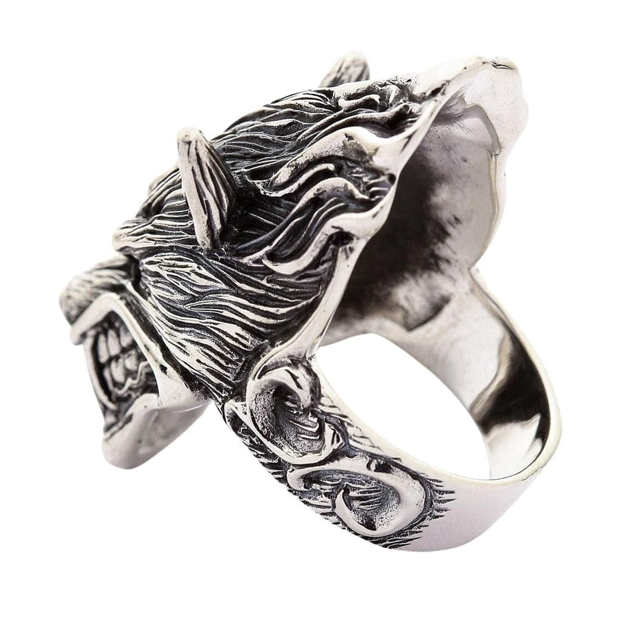 sterling silver werewolf ring