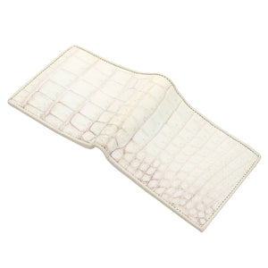 White Crocodile Skin Wallet