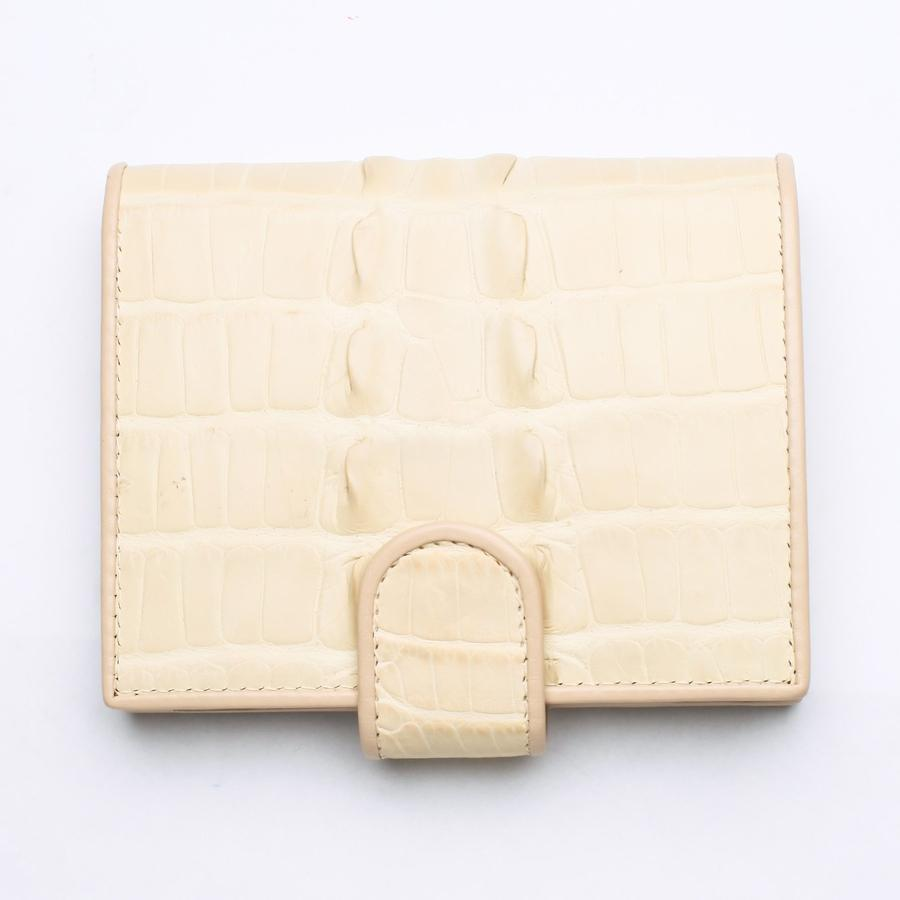 genuine white crocodile leather wallet