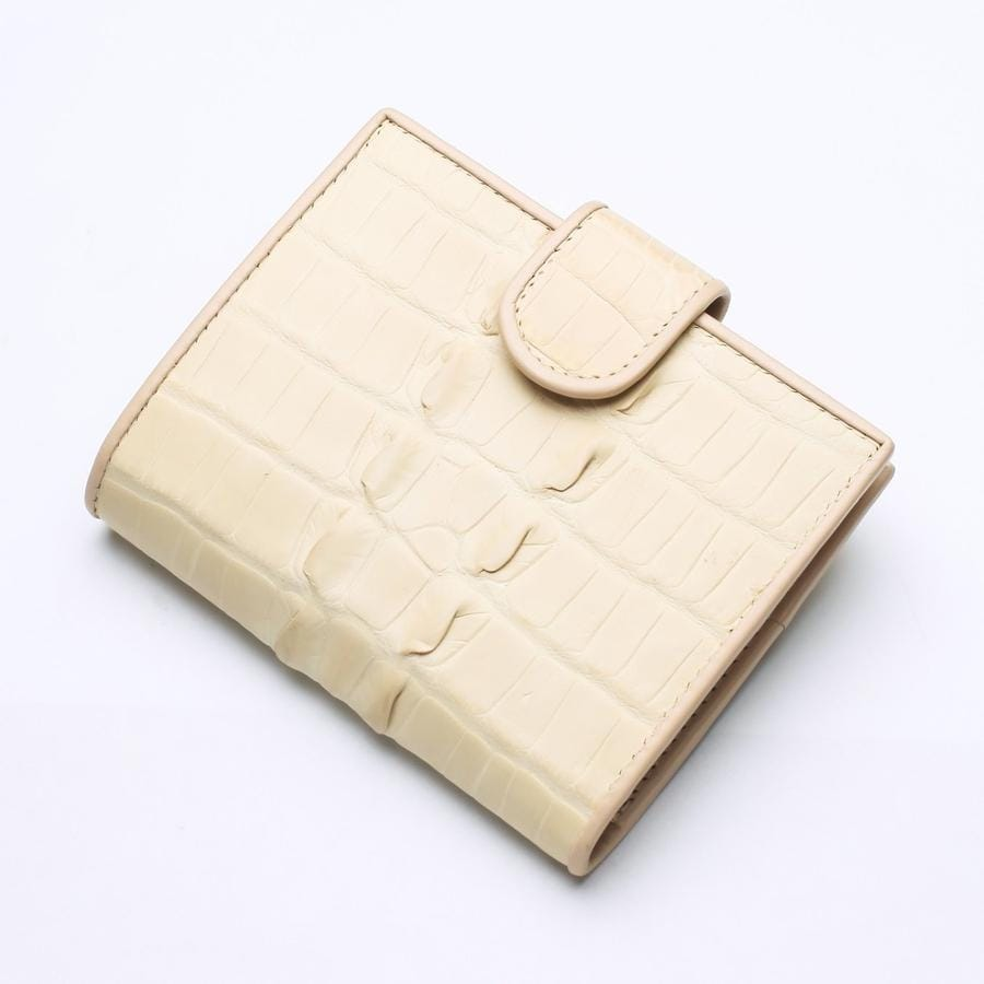 white pearl leather women's wallet