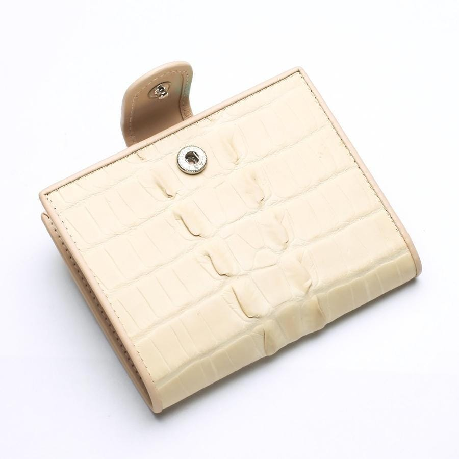 White Pearl Crocodile Tail Skin Womens Wallets