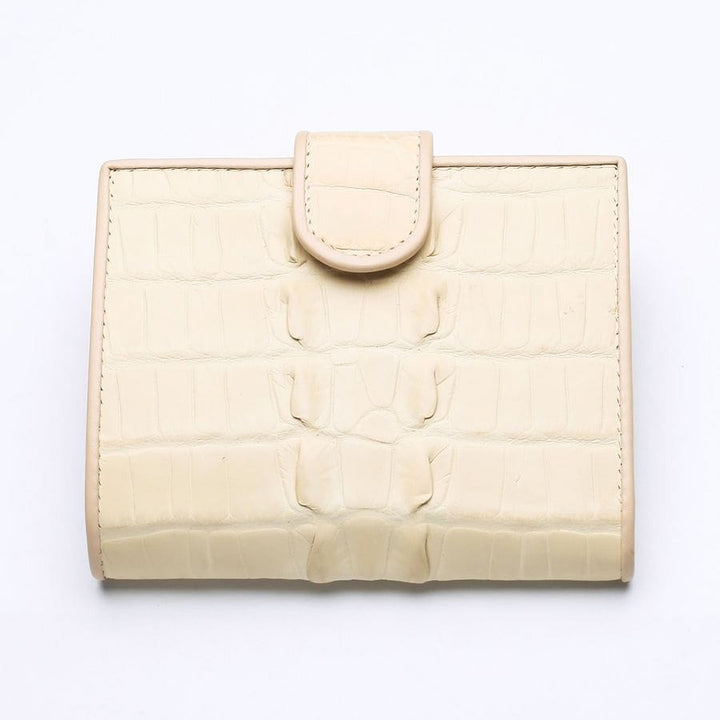 white pearl crocodile women's wallet