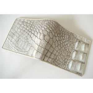 White Pearl Crocodile Skin Men's Wallet