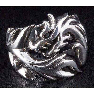 sterling zilveren wolf ring