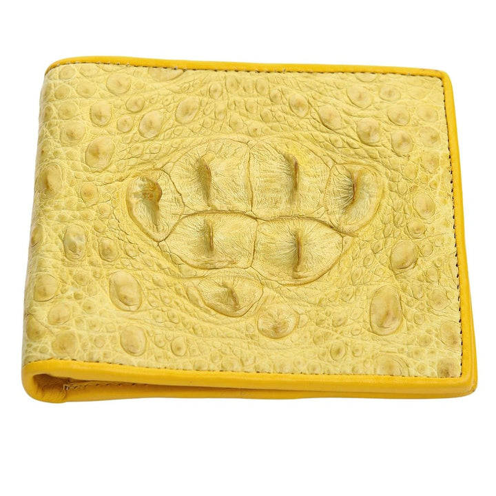 yellow crocodile hornback wallet