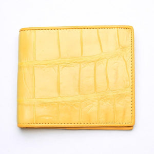 yellow crocodile men's wallet