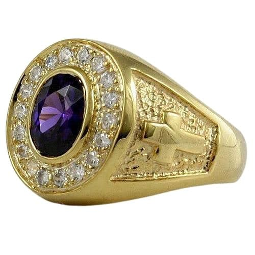 yellow gold amethyst ring