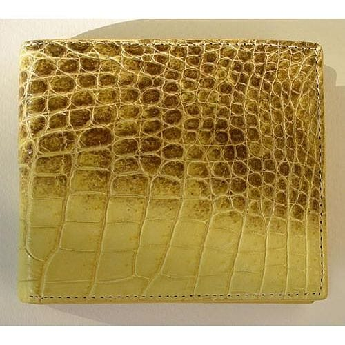 Yellow Mens Crocodile Wallets