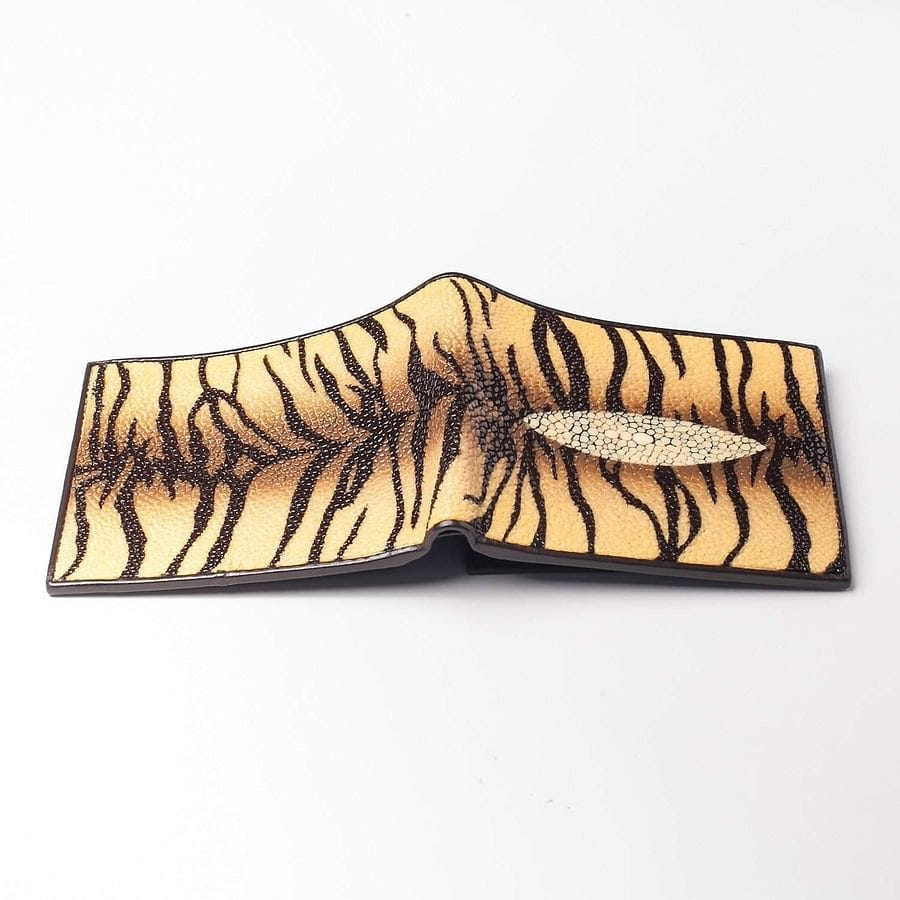 tiger design stingray skin wallet