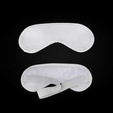 white buffalo leather sex blindfold for bondage bdsm