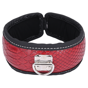 PVC Bondage Red Sex Collar with foam filling