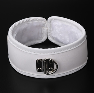 PVC White Bondage Slave Sex Collar