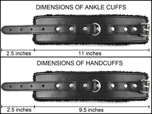 Handcuffs and Ankle Cuffs Measurements