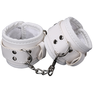 White PVC Ankle cuffs for Bondage Fun