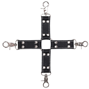 leather cross belt sex hog tie for bondage