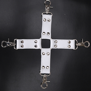 leather cross belt sex hogtie for bdsm