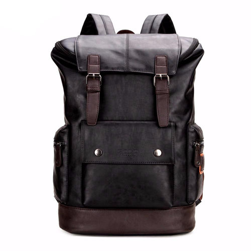 Leather Buckle BackPack