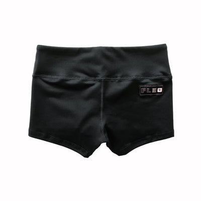 FLEO Black Workout Shorts