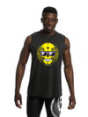 Northern Spirit Black Summer Skull Men's Muscle Tank Top