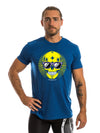 Blue Summer Skull Men's T-Shirt I Best Men's Gym T-Shirt I Men's Workout T-Shirt I Men's Gym Clothes