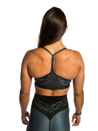 Clean Sports Bra Grey Pixel