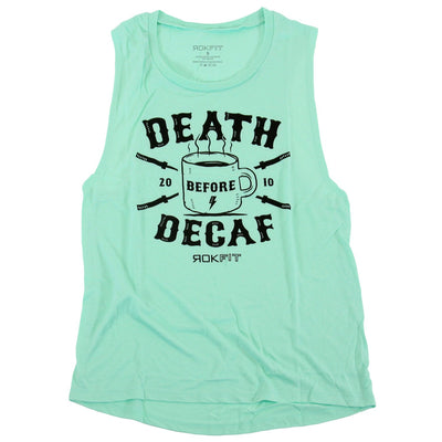 Death Before Decaf Women's Tank Top I Best Women's Gym Tank Top I Workout Women's Tank Top I Women's Workout Clothes