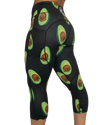 Feed Me Fight Me Avocado Skull Mid-Rise Women's Capri Leggings
