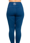 Is That A Donut In Your Pocket? Mid-Rise Women's Leggings Navy
