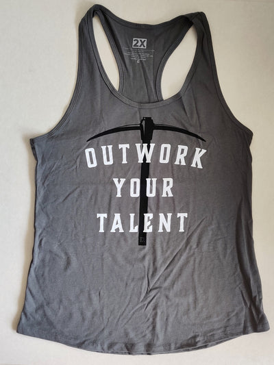 Compete Every Day Outwork Your Talent Women's Workout Racerback