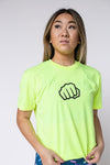 FEED ME FIGHT ME MEN'S STRENGTH TEE (LIME)