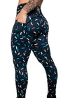 Donut Sprinkle Mid-Rise Leggings - Midnight
