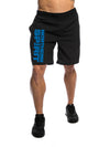 Northern Spirit Blue Logo Men's Gym Shorts Front View