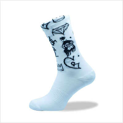 Grump Monkey Socks (4 colours)