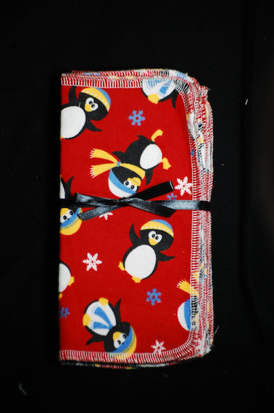 Penguin single layer 10x10 - wipes, family cloth, napkin, unpaper towels, toilet paper
