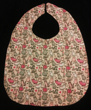 Sweet treats/ kitty Adult Lady/Teen Reversible Bib for Elderly, Special Needs, , Eating in Car/by TV, putting on make up or crafting
