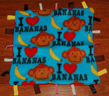 Monkey Lovey blanket with tags