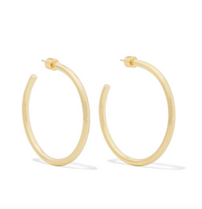 Baby Classic Gold-plated Hoop Earrings