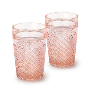Pink Glass Tumbler Set - Eight