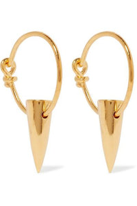Tusk Gold-plated Earrings
