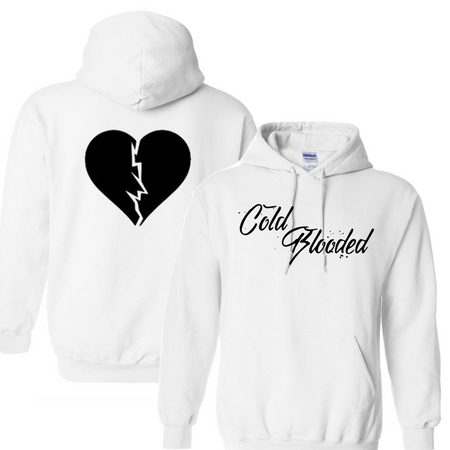 Cold Blooded White Hoodie