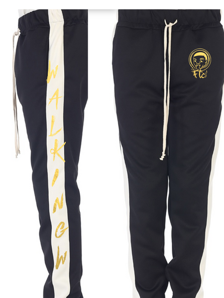 Walking W Joggers Black and Gold
