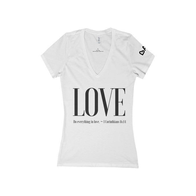 Women's Deep V-Neck: LOVE