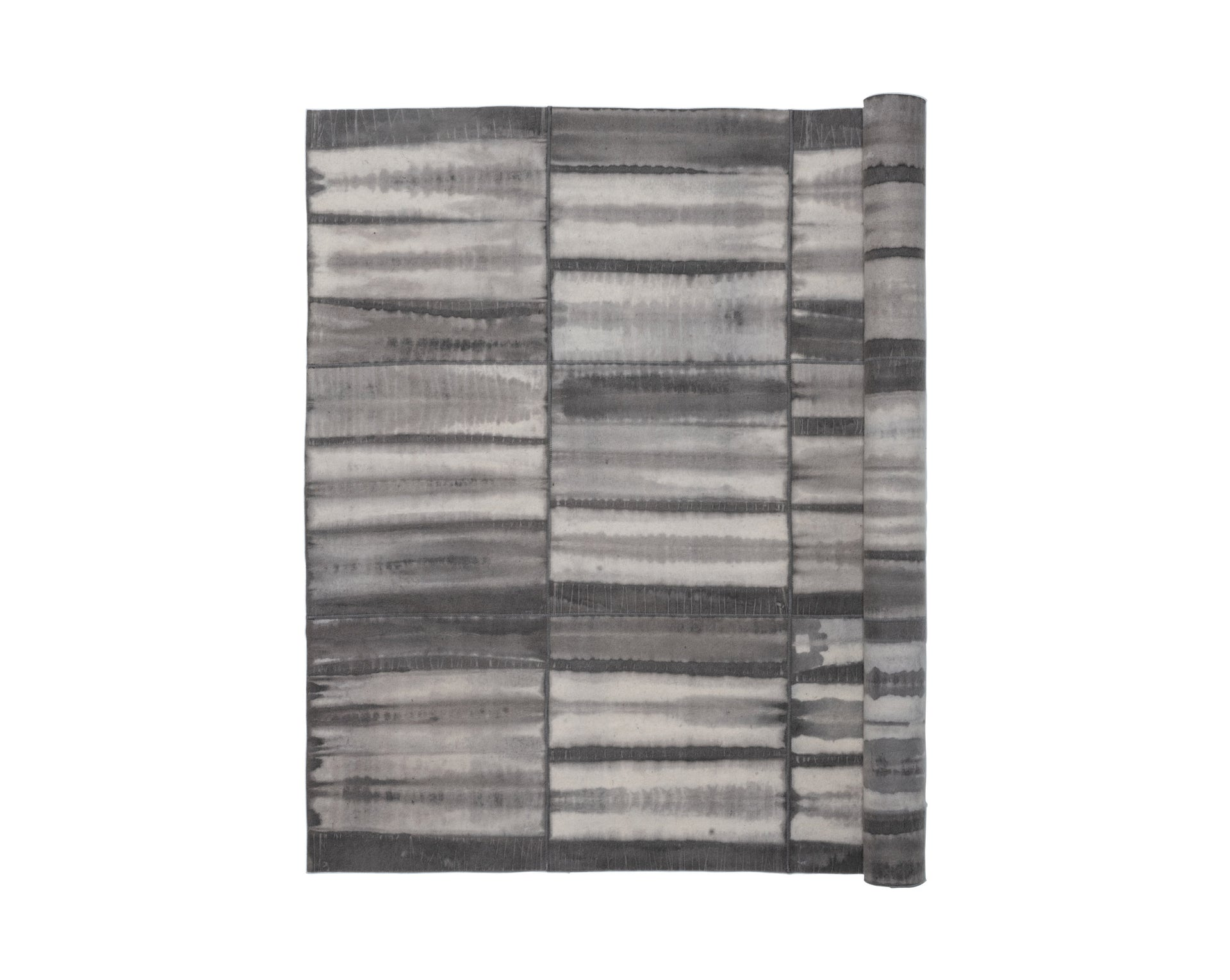 Natural Shibori-Dyed Rug