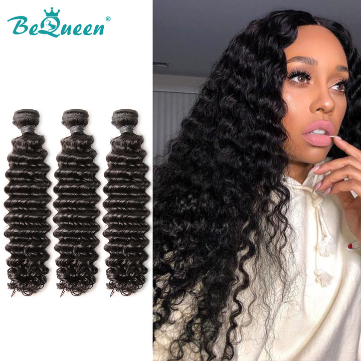 8A Virgin Hair Weave Peruvian Deep Wave Human Hair Extensions