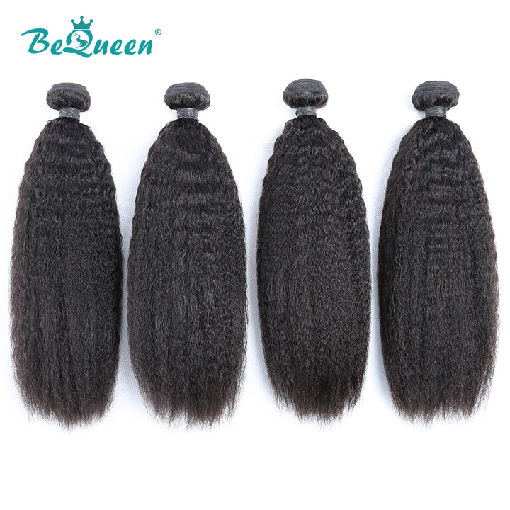 8A Virgin Hair Weave Brazilian Kinky Straight Hair Extensions
