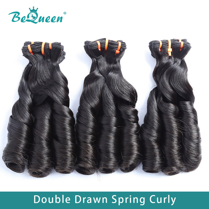 Double Dessiné 100% Virgin Hair Fumi Spring Curly Hair Weave