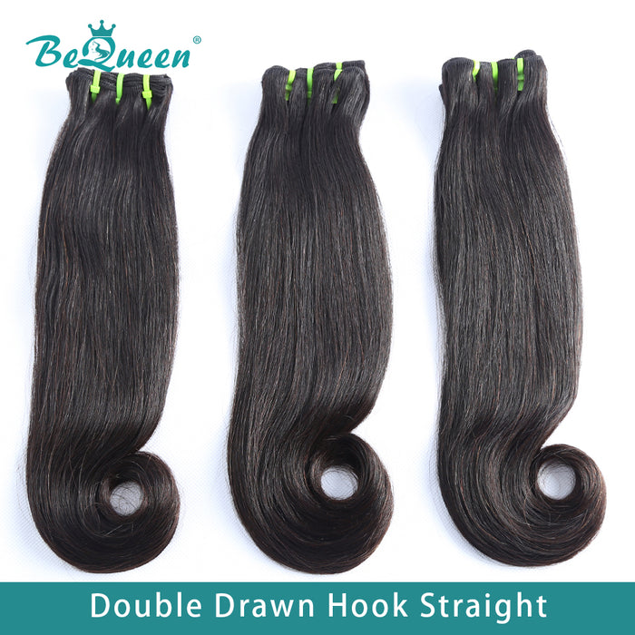 Double Drawn 100% Virgin Hair Fumi Hook Straight Hair Weave