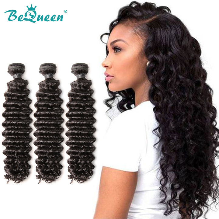 8A Virgin Hair Weave Brésilien Deep Wave Hair Extensions