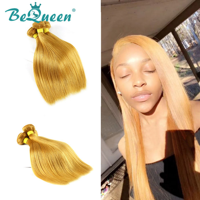 Color #144 Straight Human Hair Weave Bundles Deal